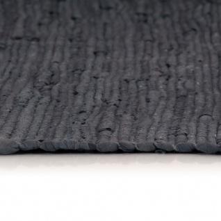 vidaXL Handgewebter Chindi-Teppich Baumwolle 160x230 cm Anthrazit - Vorschau 4