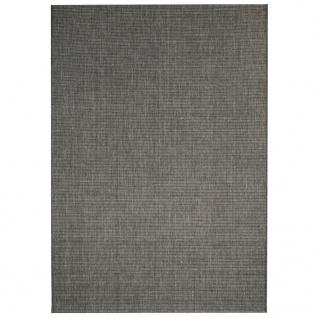 vidaXL Webteppich Sisal-Optik Indoor/Outdoor 120 x 170 cm Dunkelgrau