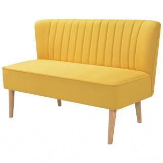 vidaXL Sofa Stoff 117 x 55, 5 x 77 cm Gelb
