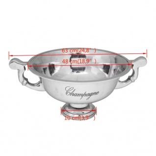 vidaXL Champagner-Kühler Pokal Aluminium Silber - Vorschau 5