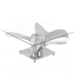 vidaXL Couchtisch Silbern 60x60x30 cm Aluminium und Gehärtetes Glas - Vorschau 1