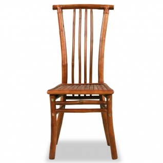 vidaXL Esszimmerstühle 4 Stk. Bambus 43 x 56 x 98 cm Braun - Vorschau 3