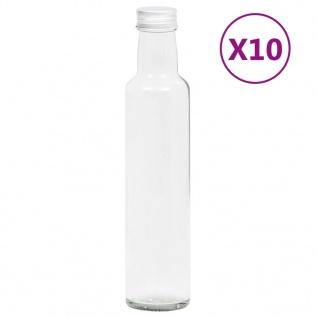 vidaXL Kleine Glasflaschen 260 ml mit Schraubverschluss 10 Stk.