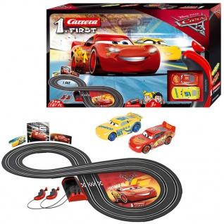 Carrera FIRST Rennwagen und Autorennstrecke-Set Cars 3 1:50 20063010