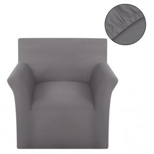 Sofahusse Stretchhusse Sofabezug Grau Baumwoll-Jersey