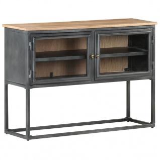 vidaXL Sideboard Grau 100x30x70 cm Massivholz Akazie