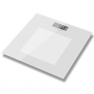 Inventum Personenwaage Weiß Glas 180 kg PW405WT