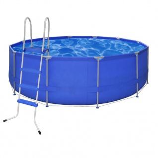 Schwimmbad Pool Rund 457 x 122 cm +Leiter