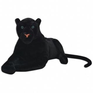 vidaXL Panther Plüschtier Schwarz XXL