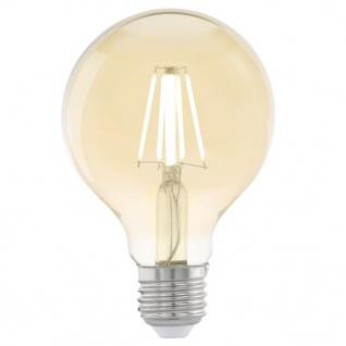 EGLO Vintage LED-Glühbirne E27 G80 Bernstein 11556