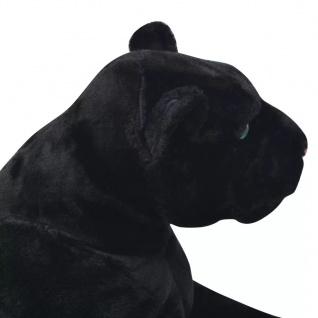vidaXL Panther Plüschtier Schwarz XXL - Vorschau 4