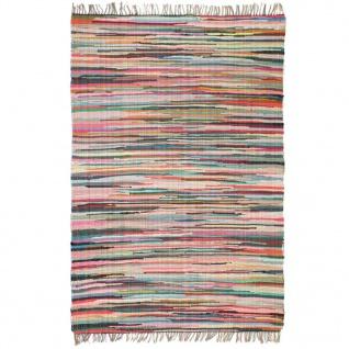 vidaXL Handgewebter Chindi-Teppich Baumwolle 160x230 cm Mehrfarbig