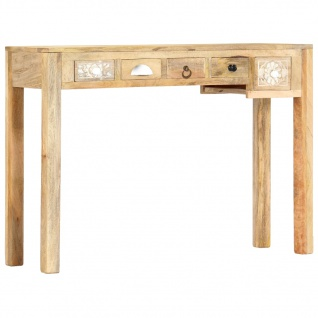 vidaXL Konsolentisch 110×30×75 cm Massivholz Mango