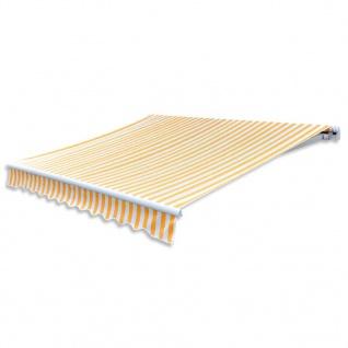 vidaXL Markisenstoff Sonnenschutz Gelb & Weiß 3×2, 5 m (ohne Rahmen)