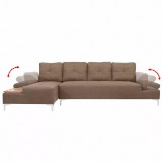 vidaXL Sofa in L-Form mit Ablagefläche aus Holz Stoff Braun XXL 300 cm - Vorschau 4