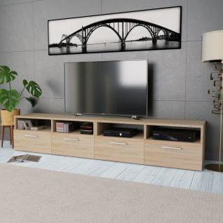 vidaXL 2 Stk. TV-Schränke Spanplatte 95 x 35 x 36 cm Eiche