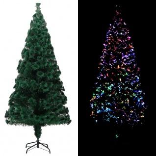 vidaXL Künstlicher Weihnachtsbaum mit Ständer Grün 240 cm Fiberoptik