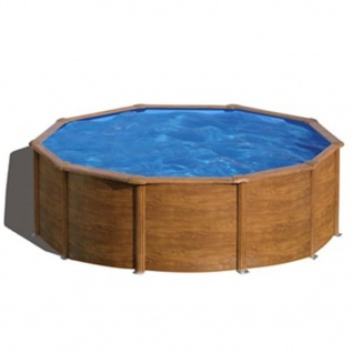 Gre Pool-Set Pacific Rund Braun 460cm KIT460WB