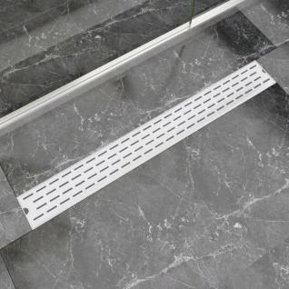vidaXL Gerade Duschrinne Linien 930x140 mm Edelstahl