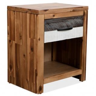 vidaXL Nachttisch Massivholz Akazie 40 × 30 × 48 cm