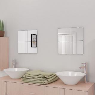 vidaXL Rahmenlose Spiegelfliesen Glas 16 Stk. 20, 5 cm