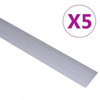 vidaXL Übergangsprofil 5 Stk Aluminium 90cm Silbern