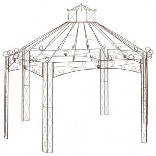 vidaXL Gartenpavillon Antik-Braun 558x350x408 cm Eisen