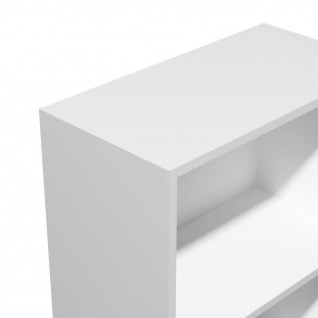 vidaXL Bücherregal Spanplatte 60x31x116, 5 cm Weiß - Vorschau 4