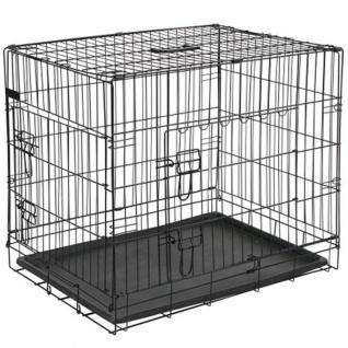 @Pet Hunde-Transportkäfig Metall 63 x 44 x 50, 5 cm Schwarz 15001