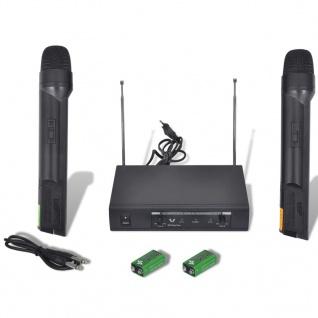Receiver mit 2 Drahtlosen Mikrophonen VHF