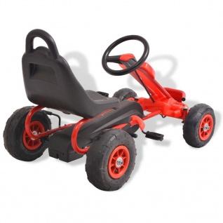 vidaXL Pedal Go-Kart mit Luftreifen Rot - Vorschau 4