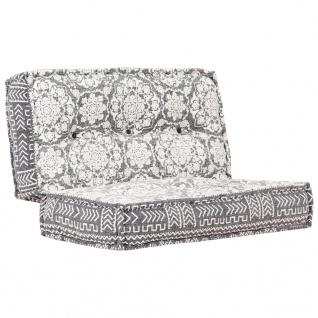 vidaXL Sofa 100×100×20 cm Stoff Hellgrau