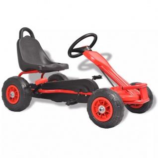 vidaXL Pedal Go-Kart mit Luftreifen Rot - Vorschau 1