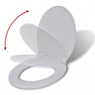 vidaXL Toilettensitz mit Absenkautomatik Oval Weiß