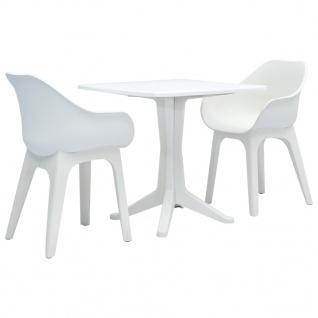 vidaXL 3-tlg. Bistro-Set Weiß Kunststoff