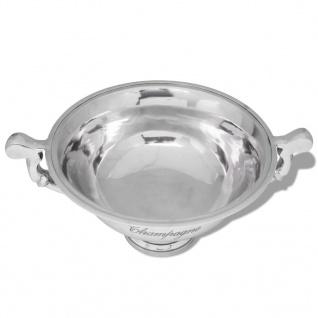 vidaXL Champagner-Kühler Pokal Aluminium Silber - Vorschau 3