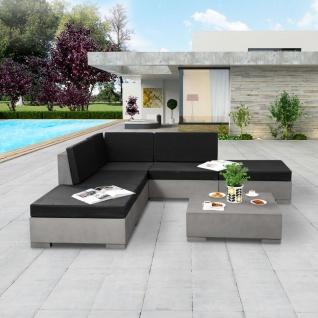 vidaXL 6-tlg. Garten-Lounge-Set mit Auflagen Beton Grau