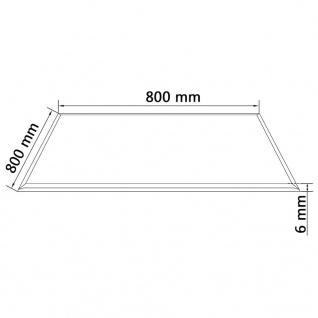 vidaXL Tischplatte aus gehärtetem Glas quadratisch 800x800 mm - Vorschau 4