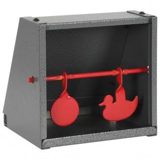 vidaXL Scheibenkasten 2 Ziele Rund Enten-Design