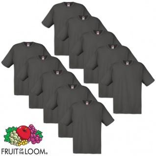 Fruit of the Loom Original T-Shirt 10 Stk 100% Baumwolle Graphit L