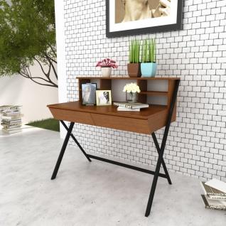 vidaXL Büroschreibtisch mit 2 Schubladen Braun