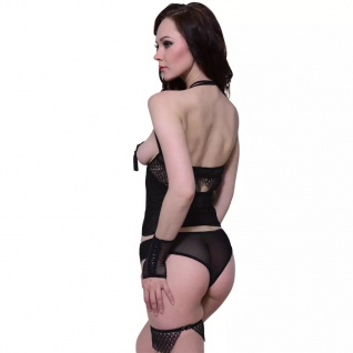 Sexy Lingerie Dessous Body Set körbchenlos 4-tlg. Gr. S / M - Vorschau 3