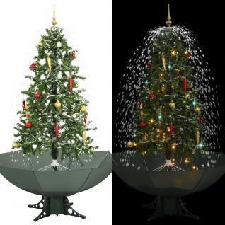 vidaXL Schneiender Weihnachtsbaum mit Schirmfuß Grün 170 cm