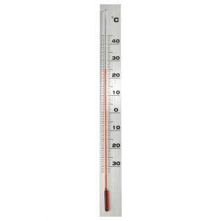 Nature Wandthermometer Aluminium 3, 8 x 0, 6 x 37 cm