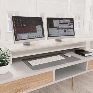 vidaXL Monitorständer Weiß 100 x 24 x 13 cm Spanplatte