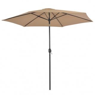 vidaXL Sonnenschirm mit Metall-Mast 300 cm Taupe