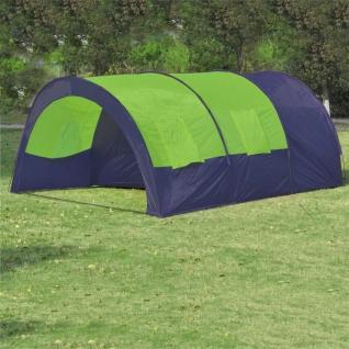vidaXL Campingzelt 6 Personen Stoff Blau/Grün