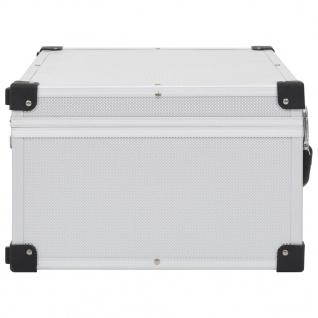 vidaXL CD-Koffer für 60 CDs Aluminium ABS Silbern - Vorschau 4