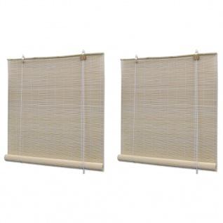 vidaXL Rollos 2 Stk. Natürlicher Bambus 120 x 160 cm