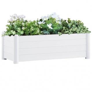 vidaXL Garten-Hochbeet PP Weiß 100x43x35 cm